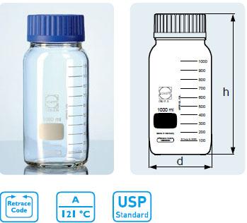 GLS 80? 廣口玻璃瓶 GLS 80? 螺紋