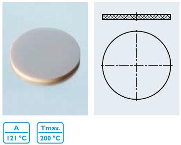 硅橡胶垫片 PTFE¹ 涂层 (VMQ¹)