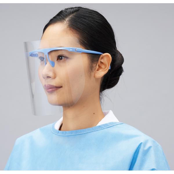 亚速旺ASONE 经济型一次性面罩组件ディスポフェイスシールドセット FACE SHIELD