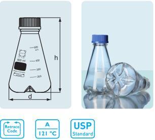DURAN ® 带档板烧瓶 GL 45,4 个底部档板