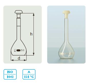DURAN® 容量瓶,B 级 白色刻度线