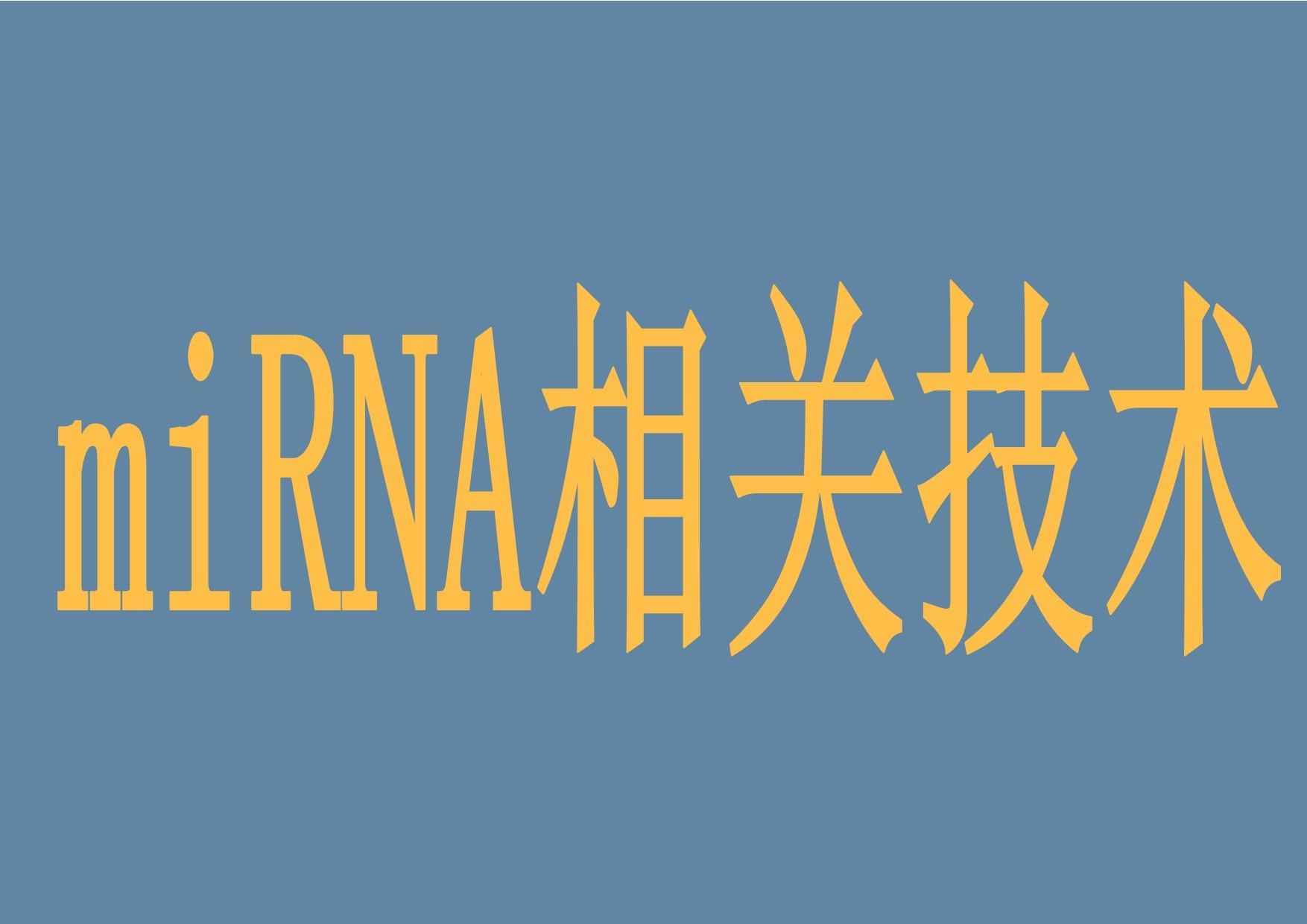 miRNA相关技术