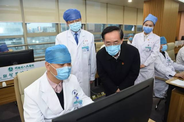 戴柏华副省长到河南省人民医院调研疫情防控工作