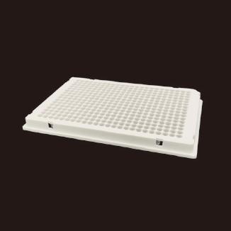 40μl 384孔PCR板,白色全裙边,透明管,单切角