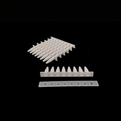 0.2ml PCR 8联排管,平盖,白色