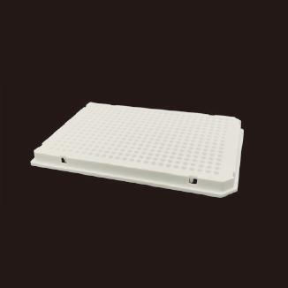 40μl 384孔PCR板,全裙边,白色双切角