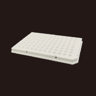 0.1ml 96孔PCR板,半裙边,白色
