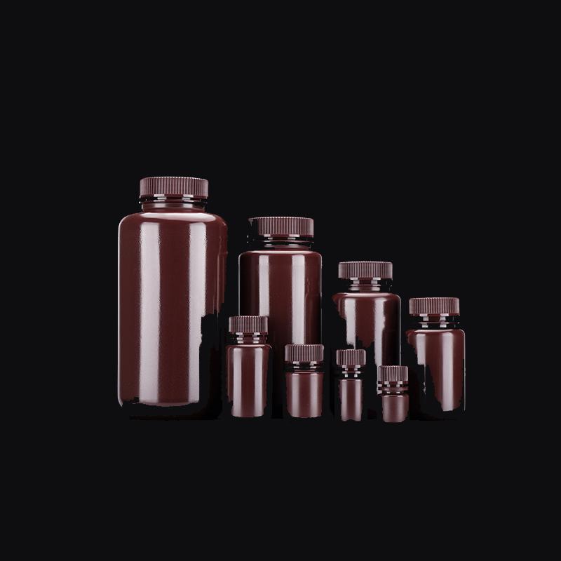 无酶免洗/无菌8、15、30、60、125、250、500、1000ml取样瓶加厚pp广口棕色试剂瓶耐高温250ml/250g