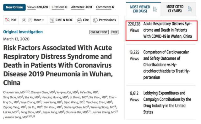 「中国经验」揭示新冠患者发生 ARDS 和从 ARDS 进展至死亡的危险因素