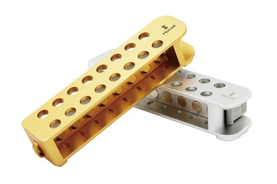 16孔可锁止双排金属磁力架(金)
