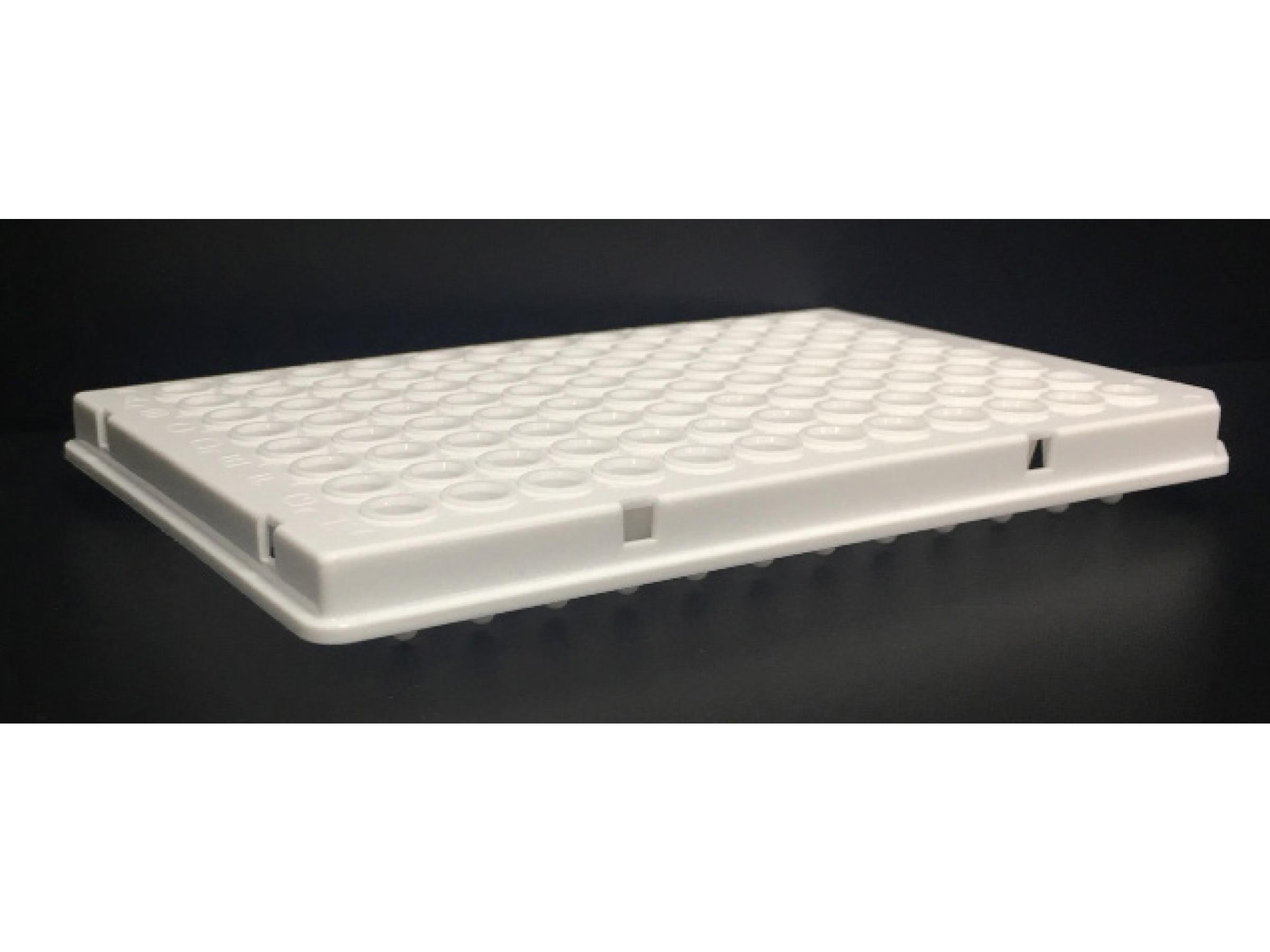 96孔荧光定量PCR板,100 μl白色,半裙边,单切角(H12)