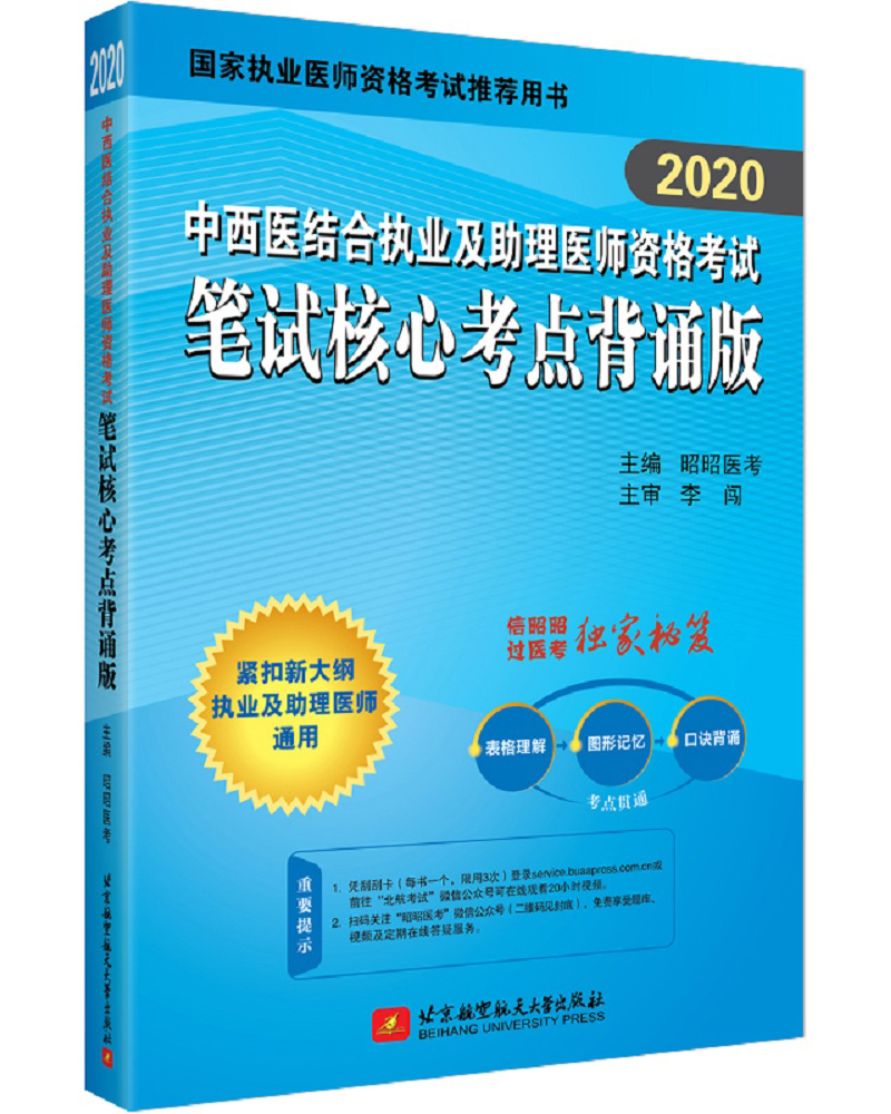 2020中西医结合执业及助理医师资格考试笔试核心考点背诵版