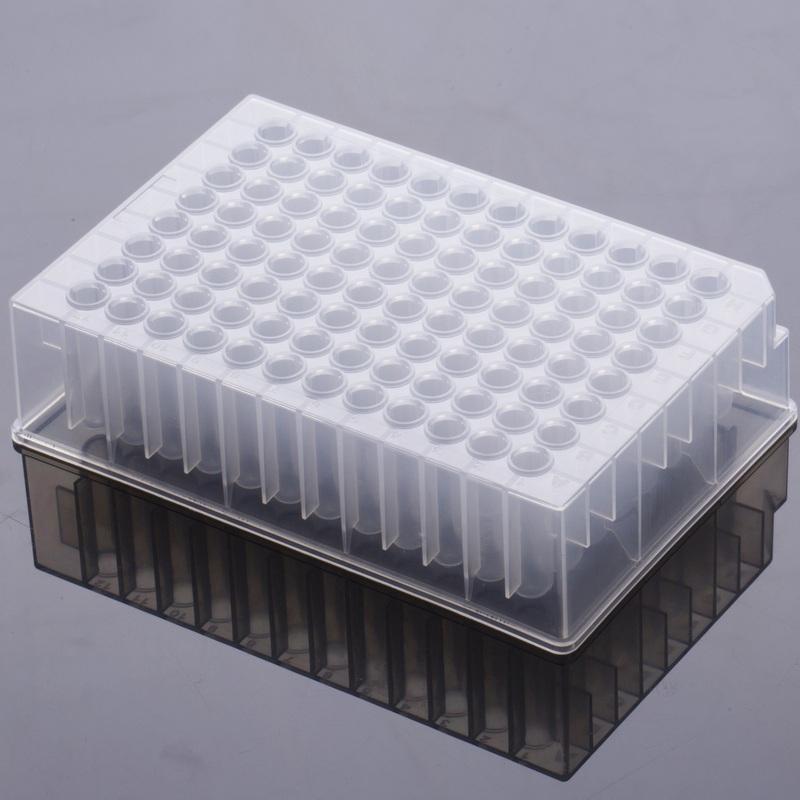 2.0ml圆孔96孔透明圆底深孔板,未灭菌