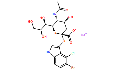 160369-85-7/5-溴-4-氯-3-吲哚基-α-D-N-乙酰神经氨酸钠盐