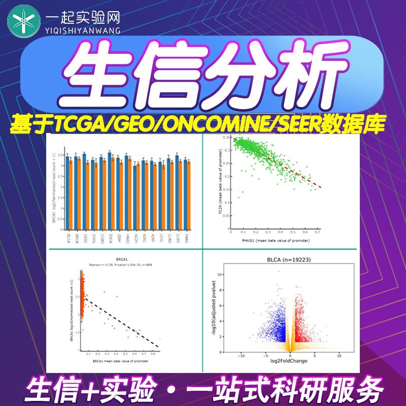 生信分析/生物信息学数据分析/TCGA/GEO/ONCOMINE/SEER数据库挖掘