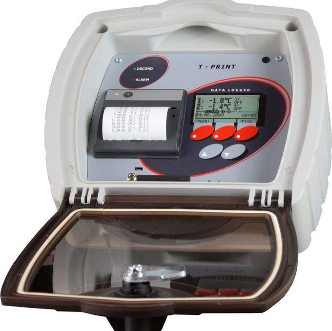 半拖挂车可打印的无线温度记录仪