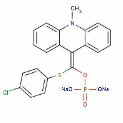 APS-5(4-氯苯巯基)(10-甲基-9,10-二氢化吖啶亚甲基)磷酸二钠盐