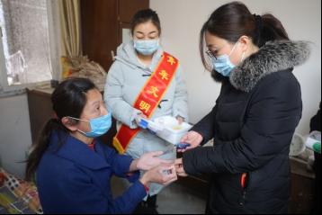 济南市第二人民医院团委开展「青年文明号助千家」特色送温暖活动