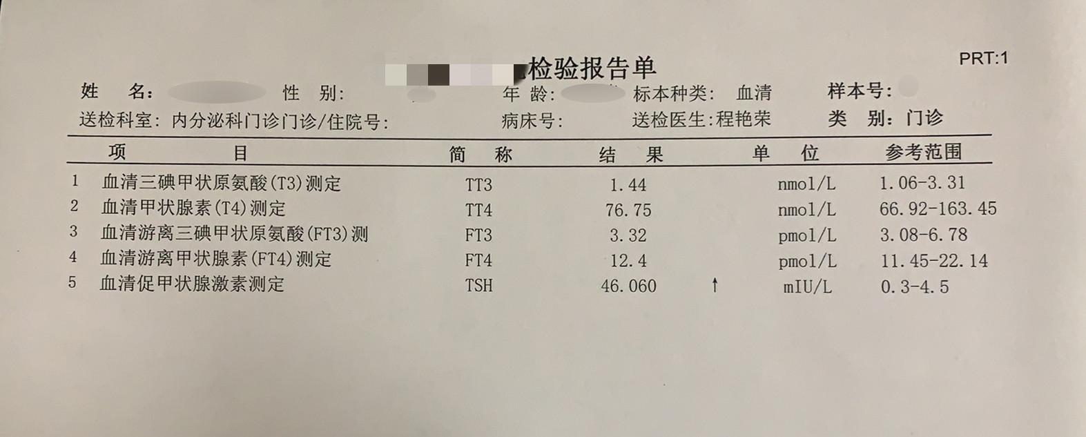 什么是高质量甲状腺功能检查化验单?