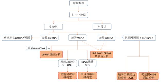 ceRNA芯片分析流程