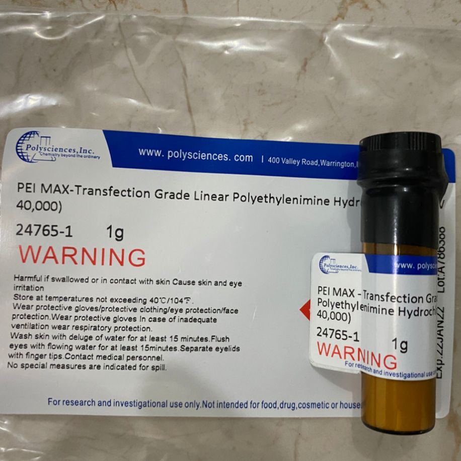 PEI MAX -转染级线性聚乙烯亚胺盐酸盐(分子量40,000)现货