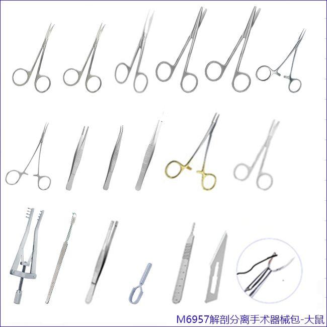 小鼠 、大鼠、解剖分离手术器械包