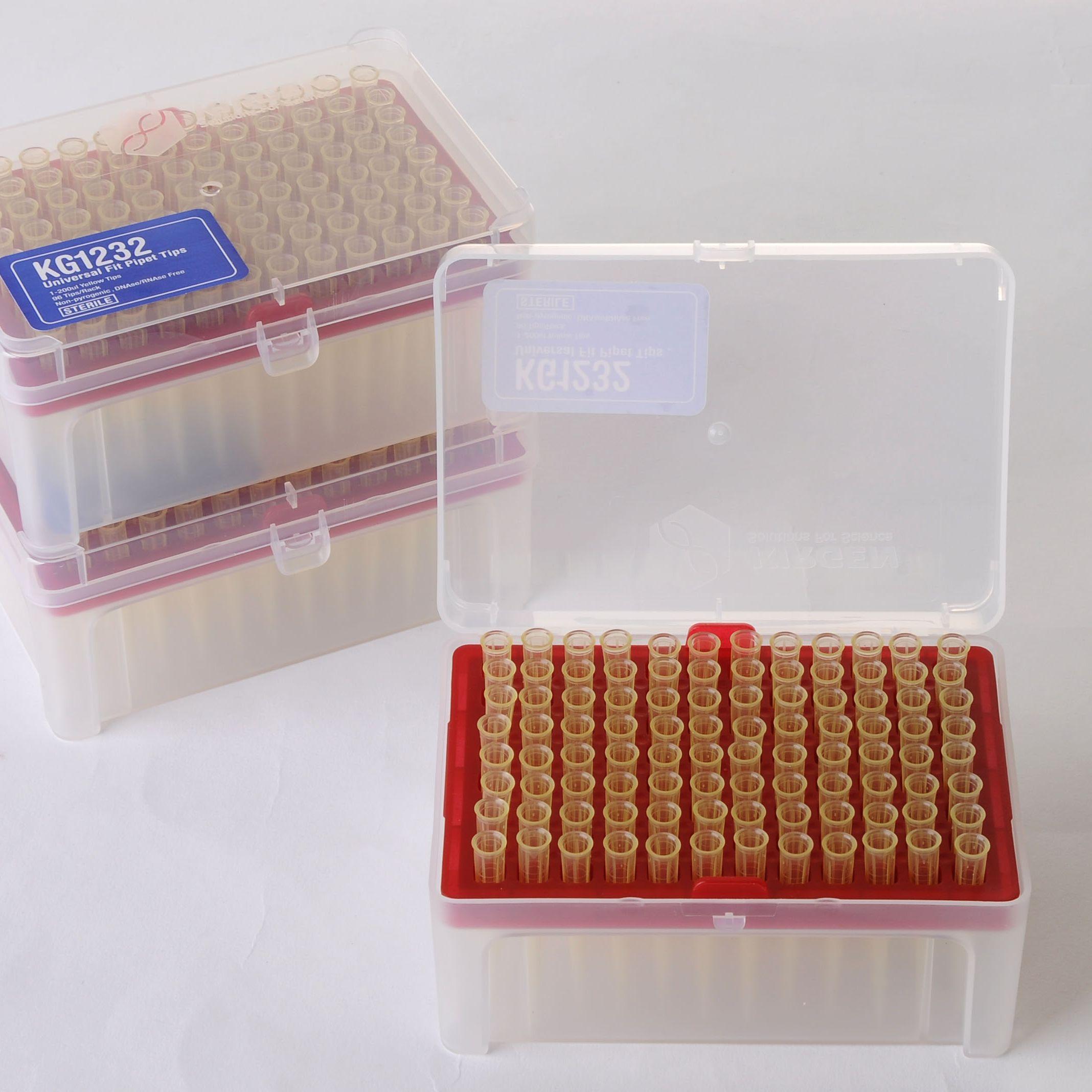 1-200ul吸嘴,黄色,带刻度,盒装灭菌(10箱送1箱)