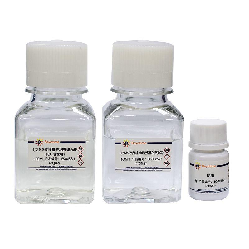 1/2 MS改良植物培养基(10X,含蔗糖和琼脂)