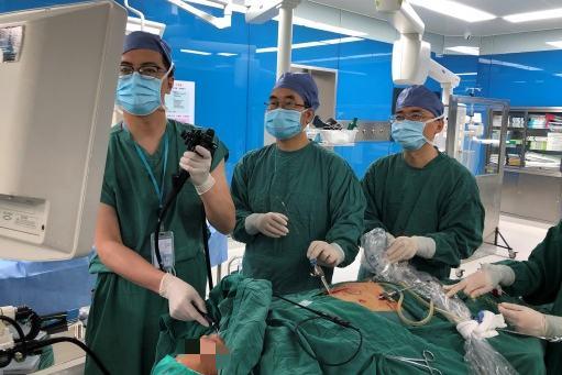 湖州市中心医院:双镜联合横扫胆道结石