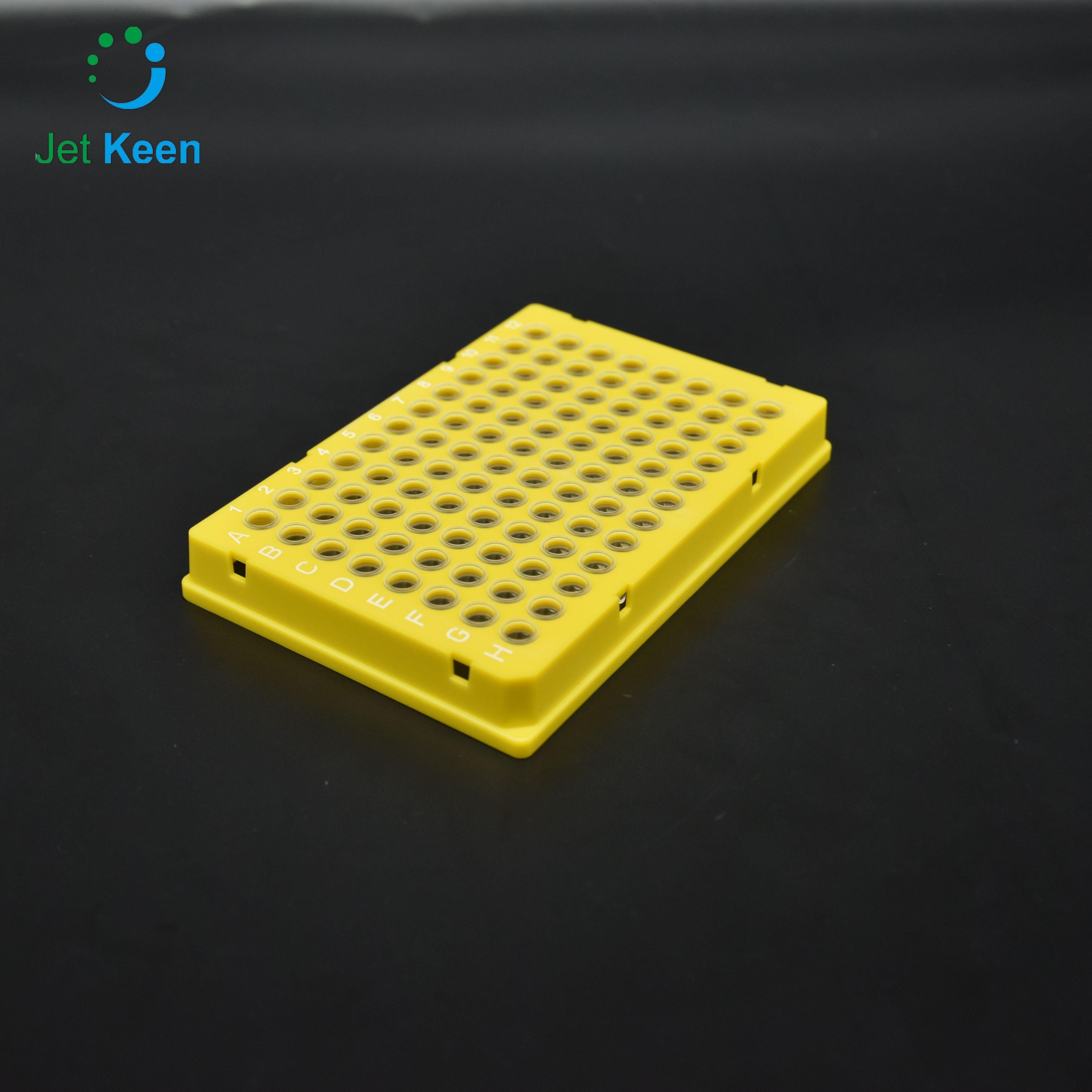 96孔 伯乐PCR板 全裙边 黄色框 透明管