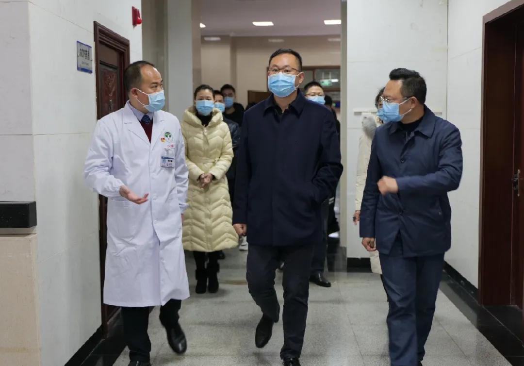 县委书记米亮莅临岳池县人民医院进行调研