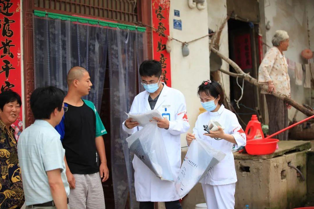 合肥京东方医院抗洪赈灾医疗队为百姓筑起健康堤坝