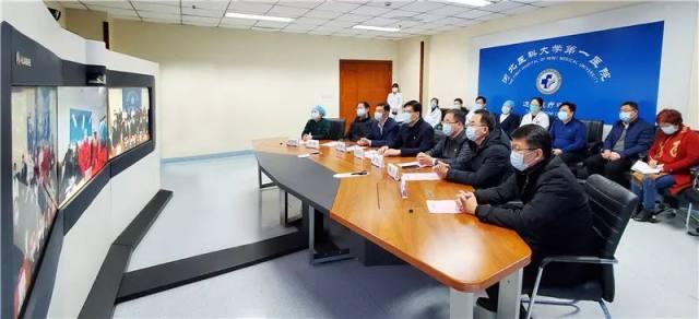 5 G 连线!河北医大一院慰问抗疫一线队员