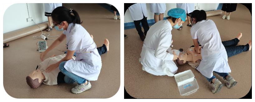 广州市东升医院影像中心举行心肺复苏培训演练
