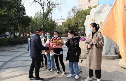 华润武钢总医院第七批医疗支援队出发