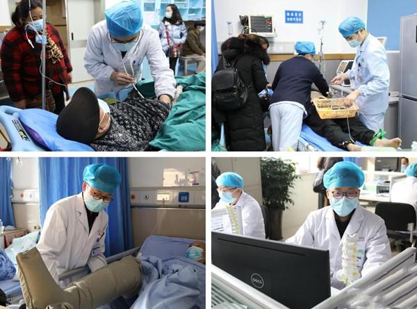 岳池县人民医院领导亲切慰问春节值班人员