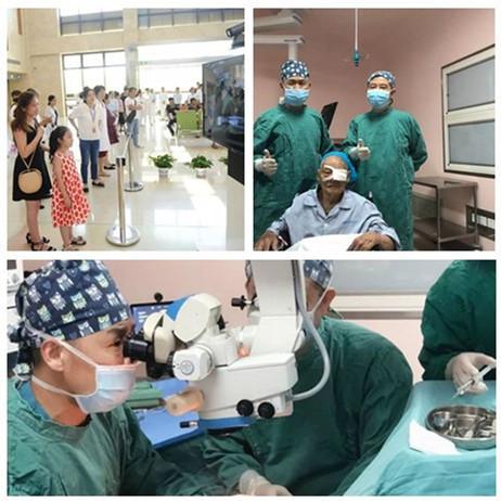 横店文荣医院与台湾太学眼科合作为 104 岁抗战老兵手术