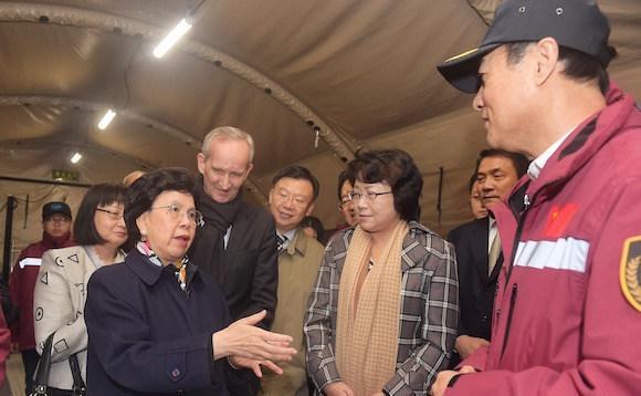 世卫组织总干事陈冯富珍赴上海东方医院观摩中国国际应急医疗队