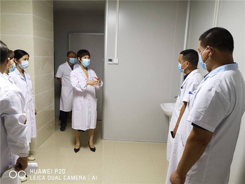 广西壮族自治区南溪山医院专家赴荔浦市人民医院指导疫情防控