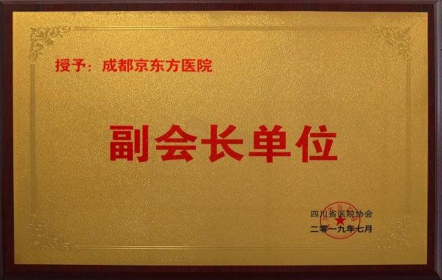成都京东方医院被推选为四川省医院协会副会长单位