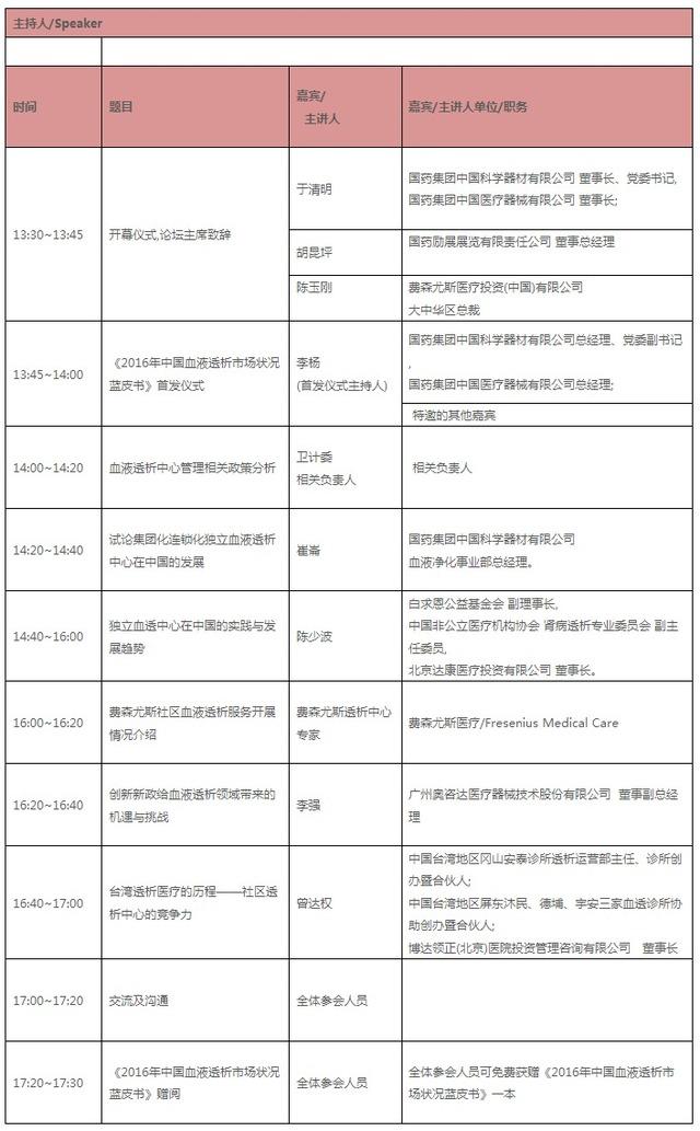 展望未来 共谋发展—中国血透市场探讨