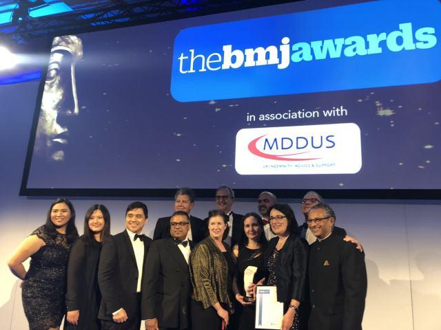 GOSH 脊柱裂团队获得英国医学期刊奖
