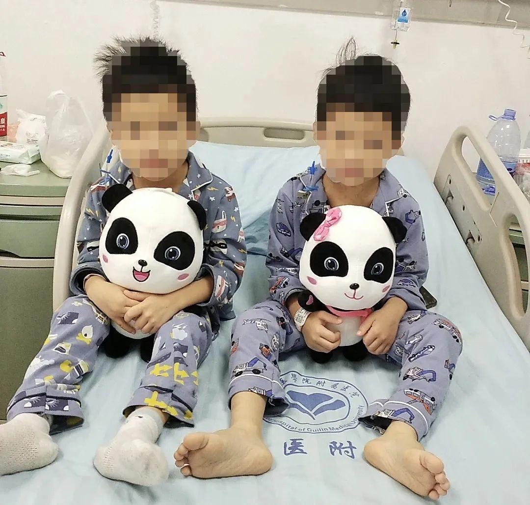 20 位先心病患儿在桂林医学院附属医院得到免费救治,其中包括一对双胞胎