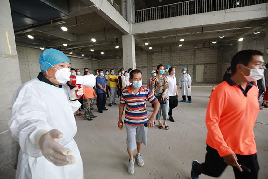 航空总医院全力支援北京核酸检测采样工作  已完成市区两级采样任务 8 次