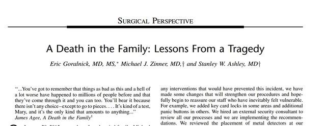 同样的悲剧 我们能从美国医生那里学到什么?