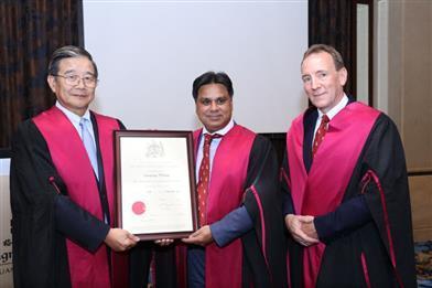 汪建平、李国新教授分别获英格兰皇家外科学院院士称号