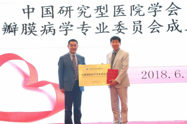 中国研究型医院学会心脏瓣膜病学专业委员会在武汉国际会议中心成立