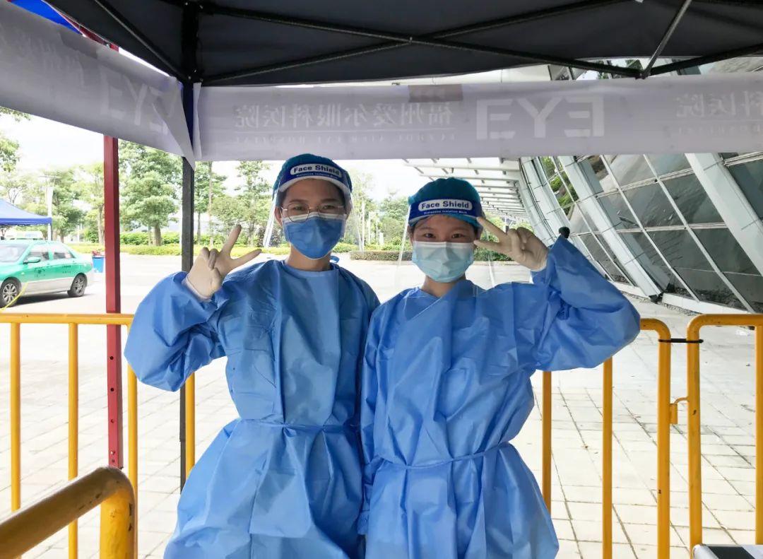 「医生姐姐辛苦了!」福州爱尔 95 后青年突击队在「疫」线