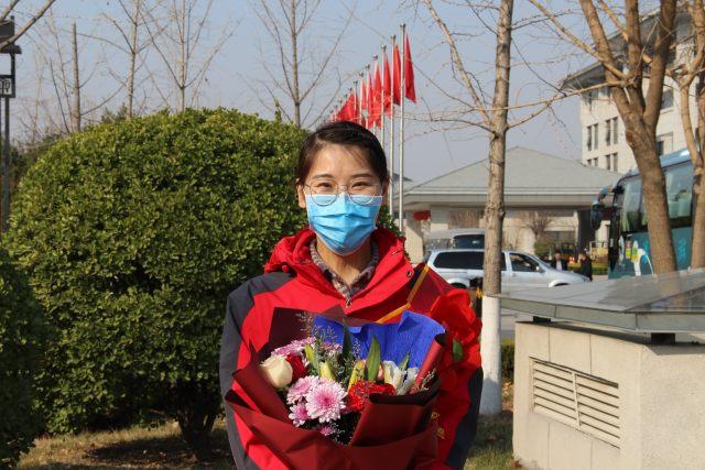 淄博市中心医院第四批援助湖北医疗队启程
