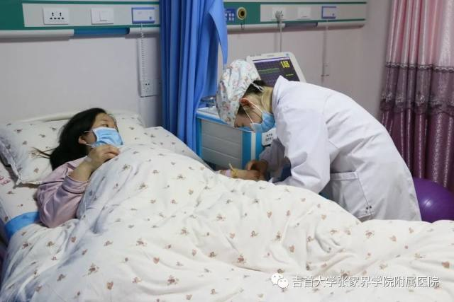 吉首大学张家界学院附属医院疫情防控严落实,孕妈防护更特别